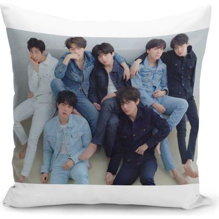 Housse de Coussin 40x40 cm BTS Jimin Kpop Stars Coree
