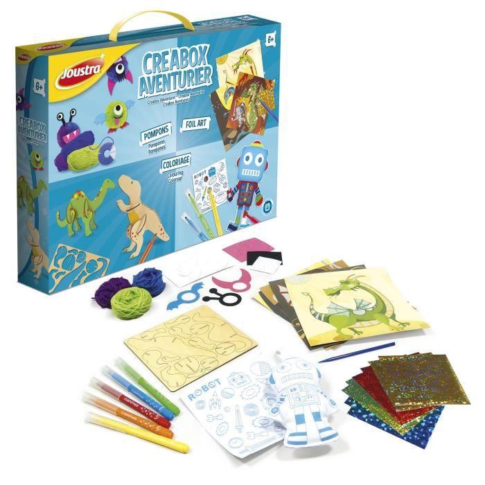 JOUSTRA - Créabox Aventurier - Un coffret créatif des petits aventuriers avec plein d'activités !