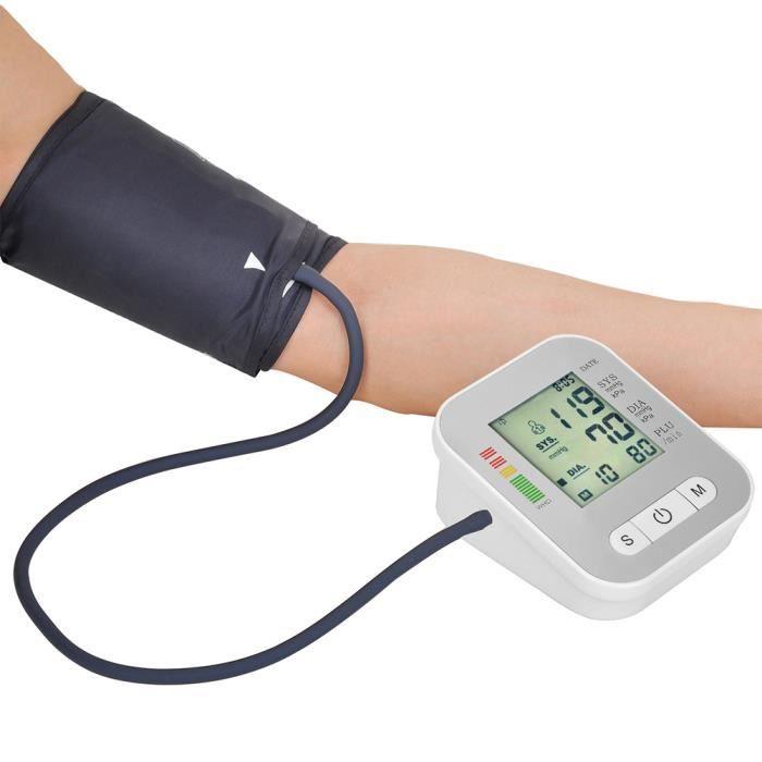 Moniteur de pression artérielle numérique automatique de poignet de bras supérieur avec la manchette 22-32cm Affichage de l'écran