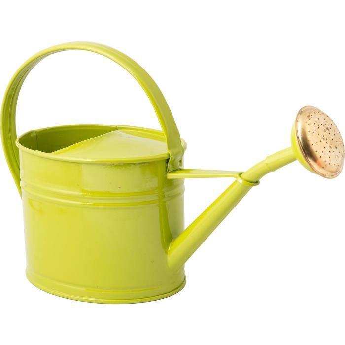 Arrosoir en acier galvanisé avec pomme 1.75 litres Vert olive Vert Olive