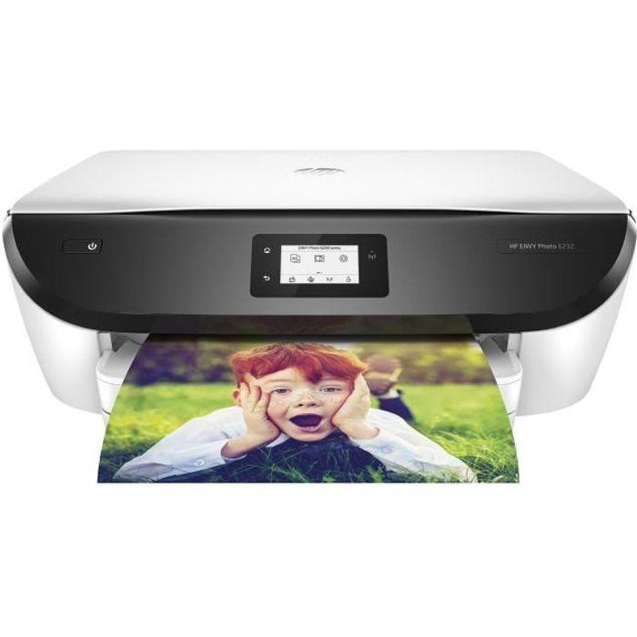 HP Imprimante Jet d'encre couleur - Envy 6232 - Idéal pour la famille - 5 mois Instant Ink offerts*