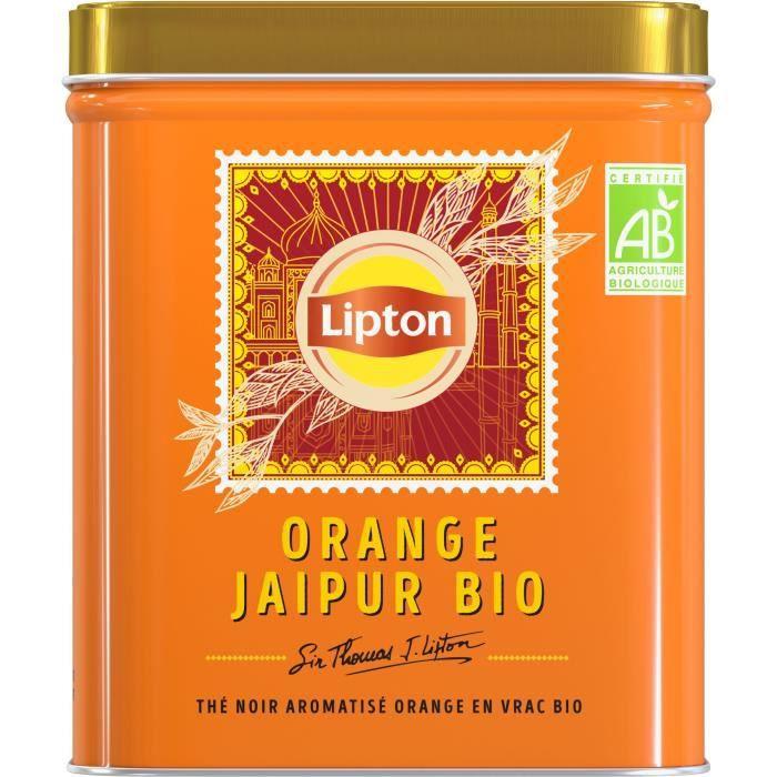 LIPTON Thé Noir Bio Orange Jaipur Vrac - 150 g