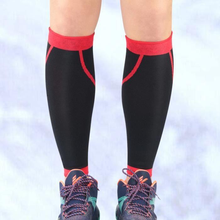 2pcs anti-dérapant manches de jambe respirant protège-mollet CHAUSSETTES DE RECUPERATION - CHAUSSETTES DE