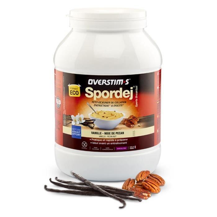 OVERSTIMS – Spordej (1,5kg) -Vanille Noix de pécan - Petit-déjeuner sportif énergétique avant effort