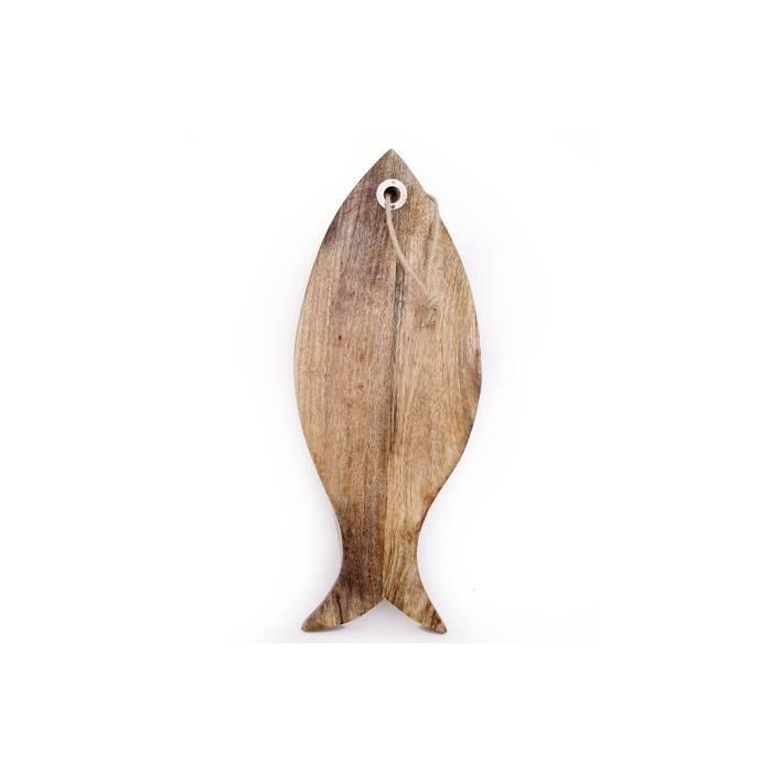 Planche à découper en bois Bord de mer - L. 49 x l. 19 cm