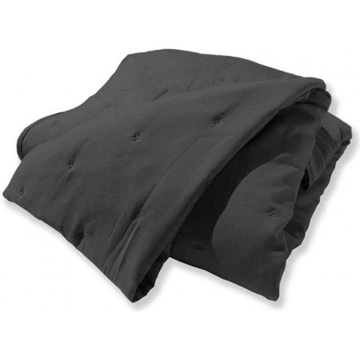 Jeté de lit matelassé Eve gris 260x240 cm