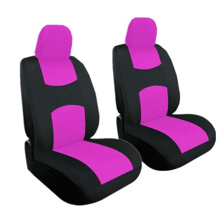 Housse de Siège Auto Universelle coussins pour Siège Voiture,auto Protecteur de siège, Couvre Siège voiture - Rose