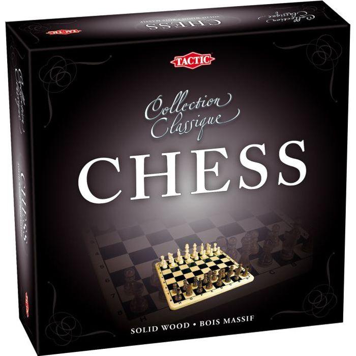 Coffret Echecs En Bois - Jeux de société classique et stratégie - Tactic