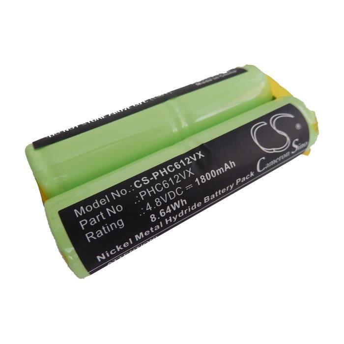 Batterie de rechange pour Philips FC6125 - Remplace : FC6125 - Technologie : Ni-MH - Capacité : 1800mAh (4.8V - 8.64Wh)