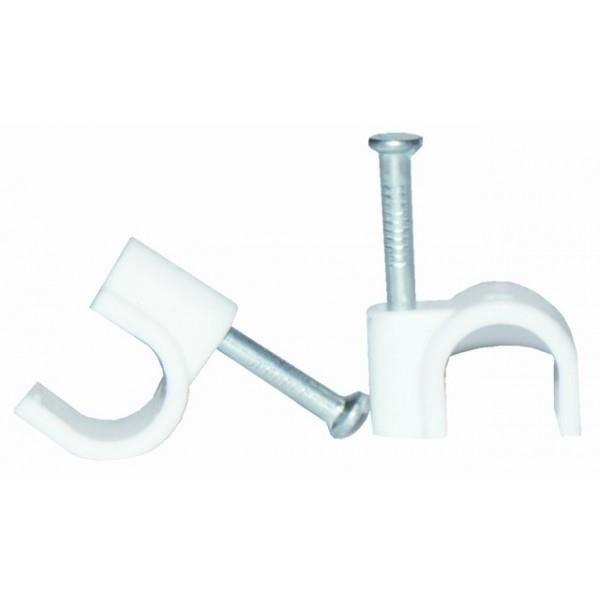 VOLTMAN Lot de 20 attaches câble professionnelles - Diamètre : 9 mm² - Blanc