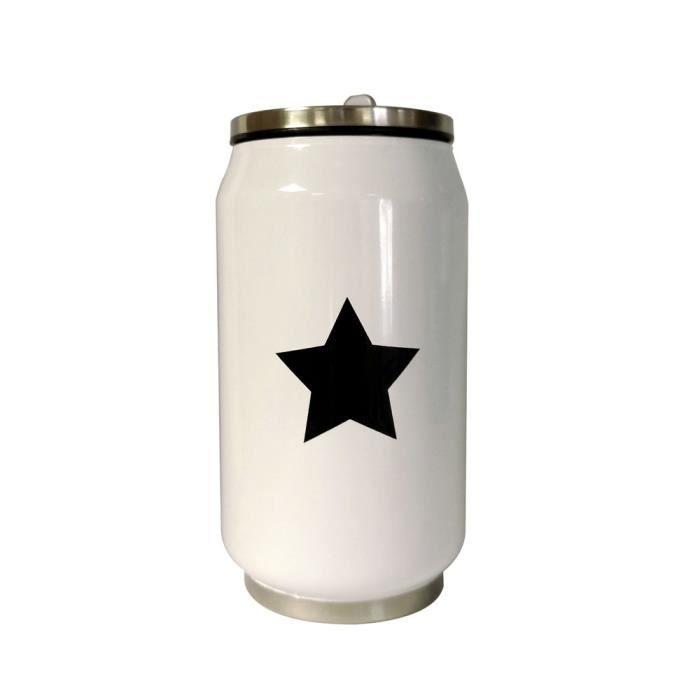 Canette Star isotherme blanc étoile noire 280 ml