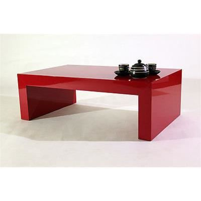Table basse rouge brillant mod first h30 achat vente - Table basse rouge laque ...