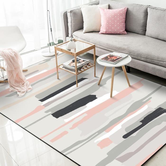 Rose Européen moderne Tapis de salon - Madrid style scandinave - 120x160cm