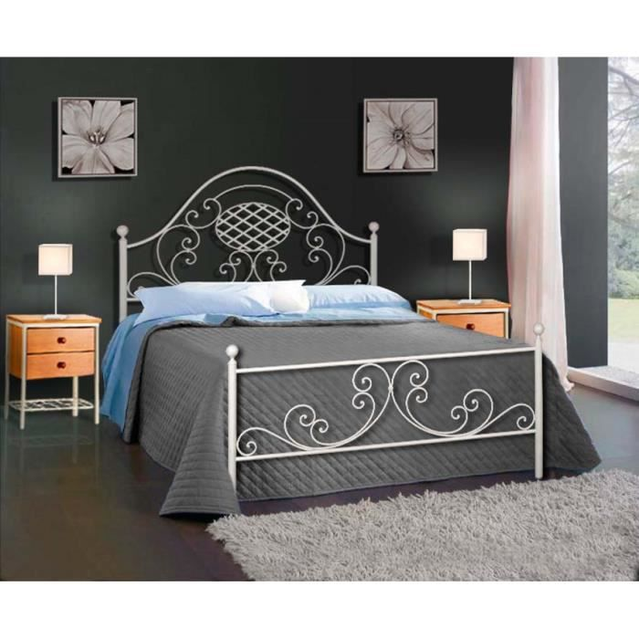 lit en fer forg mod le veronica achat vente structure de lit cdiscount. Black Bedroom Furniture Sets. Home Design Ideas