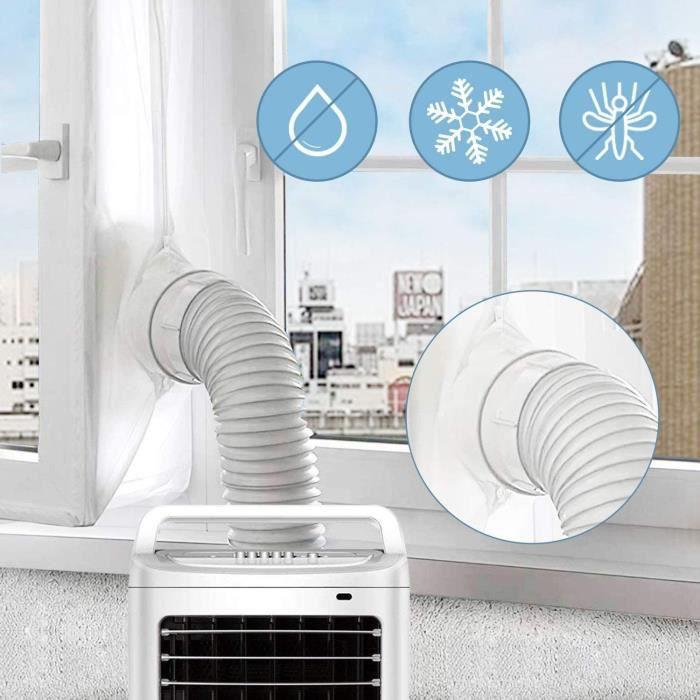 Installation Facile Fonctionne avec Toutes Les Unit/és De Climatisation Mobiles JOYUE 300cm Tissu De Calfeutrage De Fen/êtres pour Climatiseur Portatif Et S/èche-Linge 3M