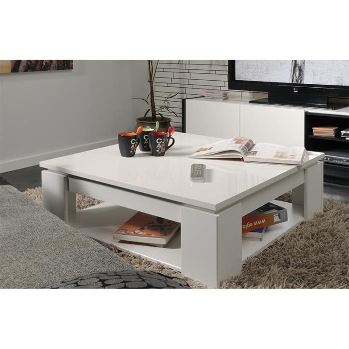 Table basse carrée CASA Blanc - Achat / Vente table de ...