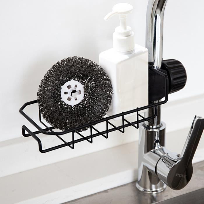 Egouttoir vaisselle pour evier inox, Etagere de rangement cuisine salle de  bain douche inox, pour savon, eponge, Gel douche etc Noir