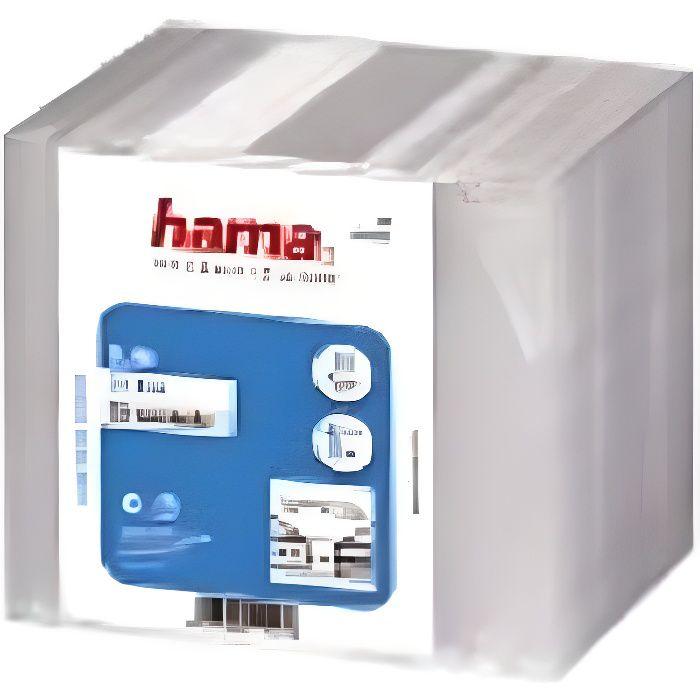 """RANGEMENT CD-DVD HAMA 00011521 Boîtier CD """"Slim"""" - Lot de 20 - Tran"""