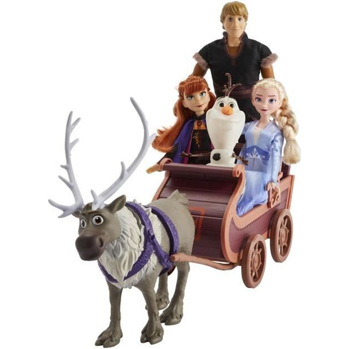 FIGURINE - PERSONNAGE Disney La Reine des Neiges 2 - Poupées Elsa, Anna,
