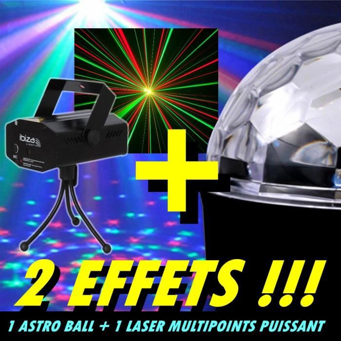pack 2 jeux lumi re 1 laser multipoints 1 astro dj pack. Black Bedroom Furniture Sets. Home Design Ideas