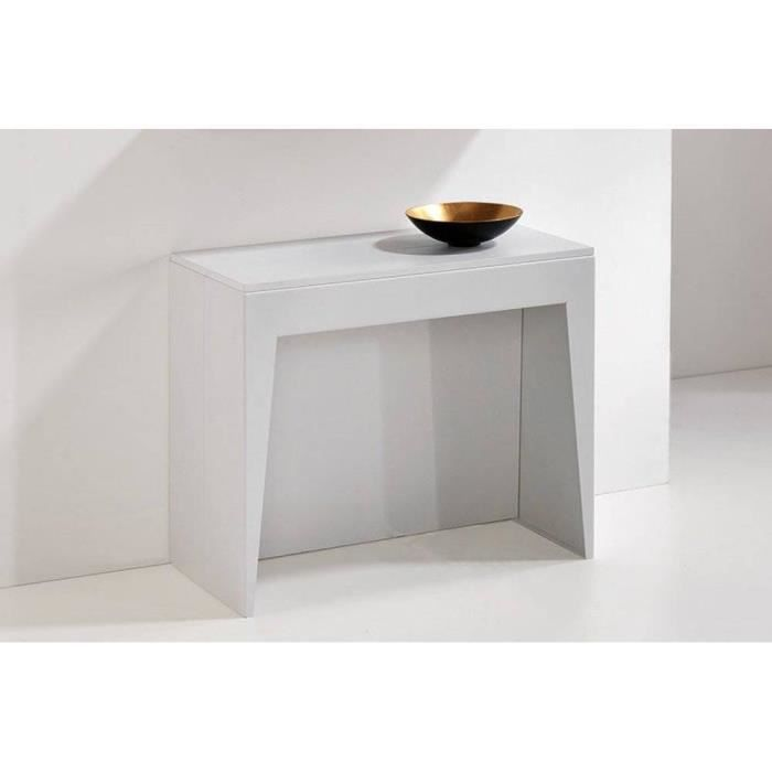 Console extensible cosmic blanc mat achat vente console console extensibl - Console extensible cdiscount ...