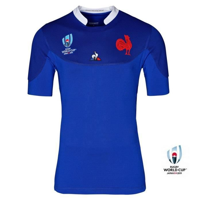 Maillot rugby France RWC 2019 domicile