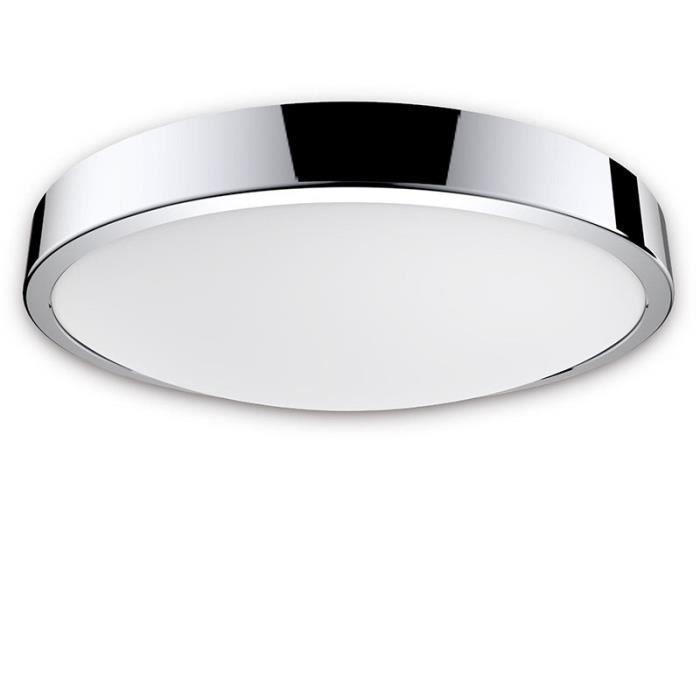 3/x 500/Lumen 3/x 5/W LED int/égr/é 3000/K blanc chaud Salle de bain Plafonnier /à LED IP44/anti-/éclaboussures m/étal//plastique chrome//blanc
