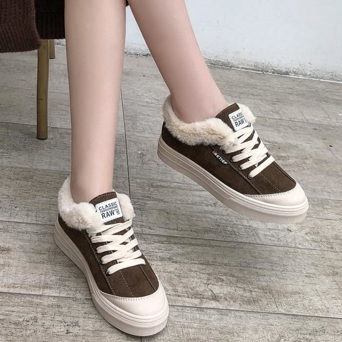 En Cross Peluche Femme Courtes Sneakers down11223 Respirants Cuir tied Sauvages Chaussures I66ZqpA
