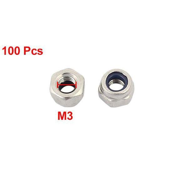 Pack 50-M16 NYLOC Écrou hexagonal nylon Insérer Verrouillage Fixation