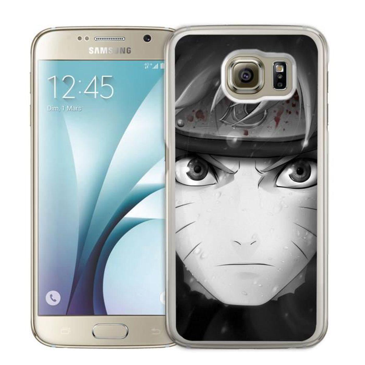 Coque Samsung Galaxy S7 Edge : Naruto Nori Et Blanc