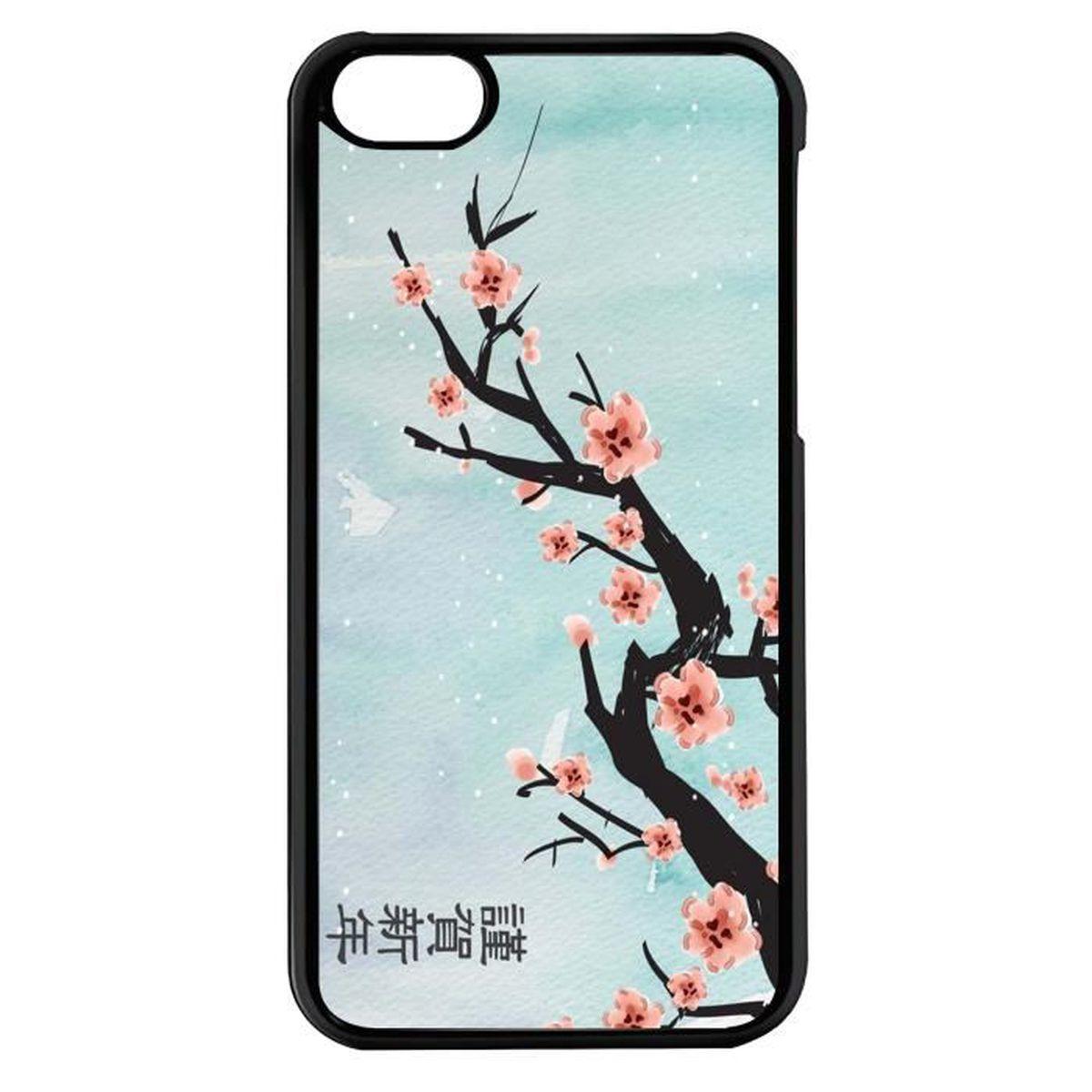 coque iphone 7 cerisier japonais