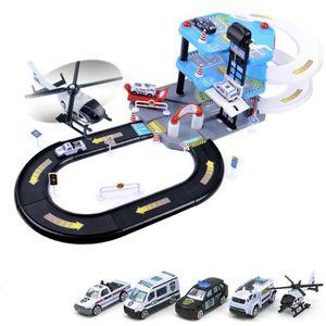 UNIVERS MINIATURE Garage 3 Etages + 4 Voitures + Circuit  + hélicopt