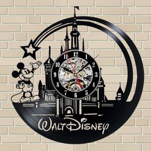 HORLOGE - PENDULE Disney Mickey Mouse cadeau vinyle record horloge m