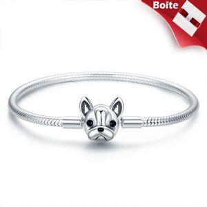 BRACELET - GOURMETTE Bracelet Jonc charms style pandora Argent 925