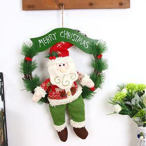 COURONNE DE NOËL Joyeux Noël partie poinsettia pin guirlande porte