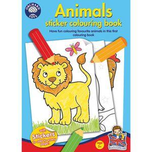 LIVRE D'ÉVEIL Orchard Toys Livre de coloriages animaux