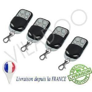 ACCESS MOTEUR GARAGE 4pcs Télécommande Universelle Portail Garage Alarm