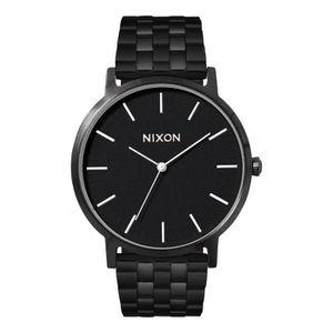 MONTRE NIXON - Montre Porter All Black Détails Blanc pour
