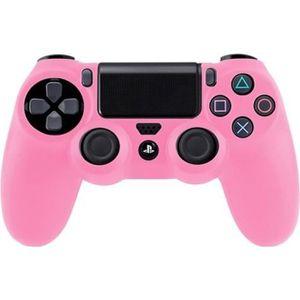 HOUSSE DE TRANSPORT Étui rose en silicone pour manette de jeux Sony PS