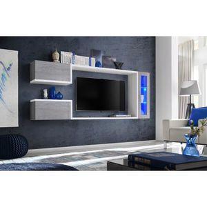 MEUBLE TV Meuble tv suspendu, meuble de salon complet SATURN