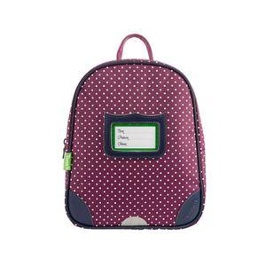 SAC À DOS Tann's - Petit sac à dos violet maternelle à pois