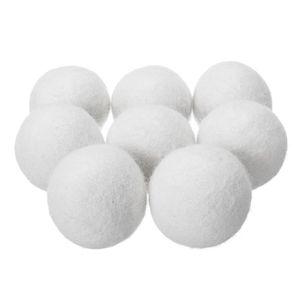 BALLE DE LAVAGE TEMPSA Lot de 8 Balles de séchage en laine