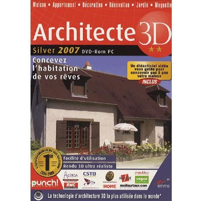 Architecte 3d silver 2007 logiciel pc achat vente jeu for Architecte 3d video