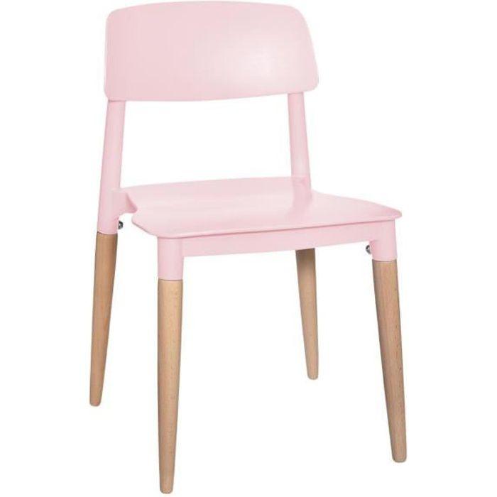 Atmosphera - Chaise Design pour Chambre d'enfant Coloris Rose