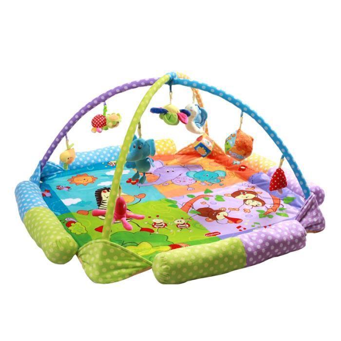 ANIMALS Tapis d'éveil éducatif Fonction parc Contient 9 jouets