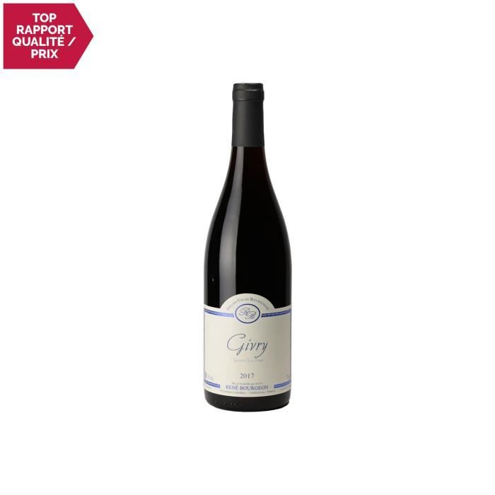 Givry Rouge 2017 - 75cl - Domaine René Bourgeon - Vin AOC Rouge de Bourgogne - Cépage Pinot Noir