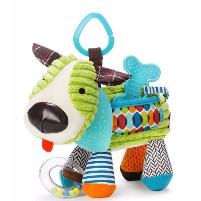 Bébé jouets bébés Cartoon peluche Animal jouet enfants peluche voiture hochet Musical lit suspendu Bell pour bébé jouets Mobile