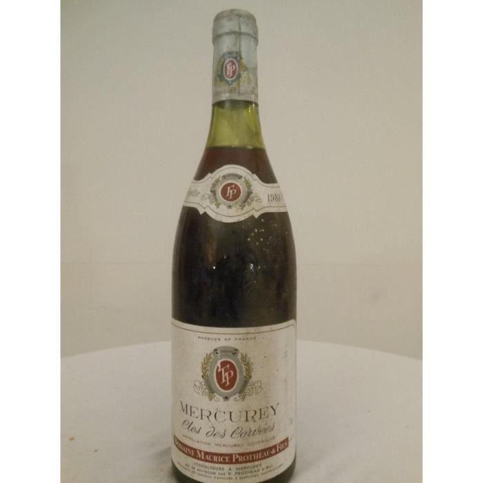 mercurey protheau clos des corvées rouge 1981 - bourgogne france