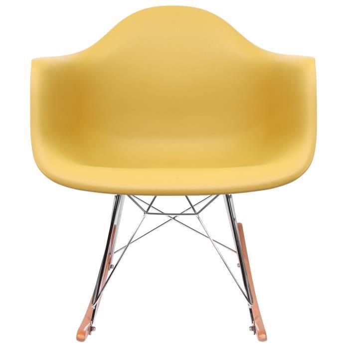Chaise Privee® - Rocking Chair RAR - (Moutarde - Naturel)