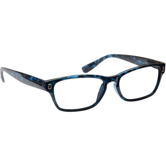 UV Reader Lunettes de Lecture Bleu écaille Wayfarer Style Dioptrie +1,50 Hommes Femmes Unisexe UVR005 Inc étuis